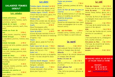 [à valider]Saladerie Femmes Debout (Association Afehme)