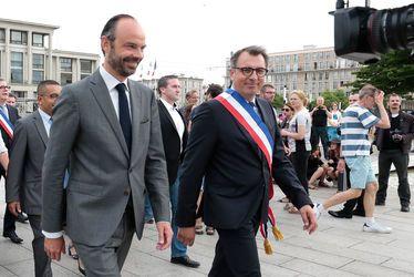 Edouard PHILIPPE, Premier ministre, aux côtés de Luc LEMONNIER, maire du Havre, le 28 mai 2017