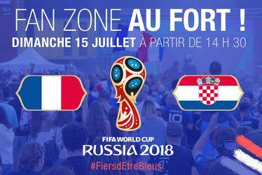 Vivez la finale France - Croatie dans la fan-zone du Fort!