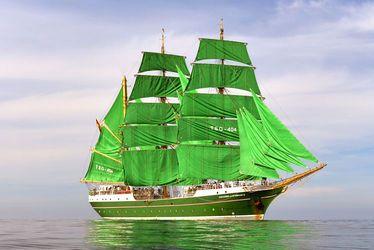 L'Alexander von Humboldt, l'un des somptueux voiliers présents au Havre pour Les Grandes Voiles