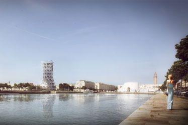 Un nouveau repère à l'architecture dynamique : un bâtiment d'habitation de 16 étages et une crèche vont voir le jour au cœur du Centre reconstruit