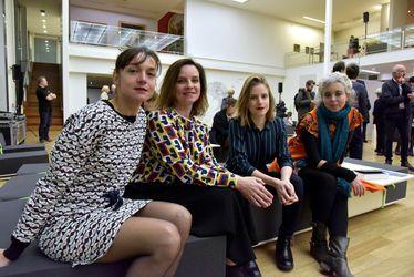 La Bande des Havraises avec de gauche à droite : Sarah Crépin, Laure Delamotte-Legrand, Juliette Richards et Agnès Maupré (manque sur la photo Delphine Boeschlin)