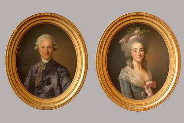 Portraits de Jacques François Begouen et Jeanne Mahieu