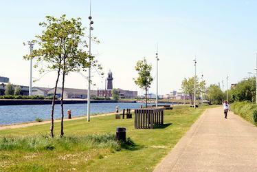 Le Jardin fluvial a été réalisé grâce à des fonds européens