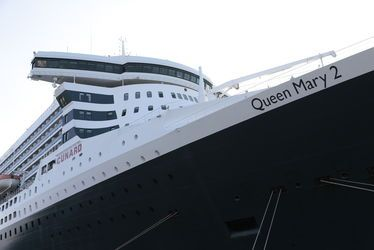 Queen Mary 2 amarré au Havre