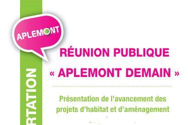 """Réunion publique """"Aplemont demain"""""""