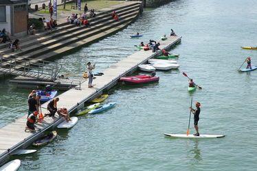 paddle, canoe, bassin du commerce, le havre en forme, un été en forme
