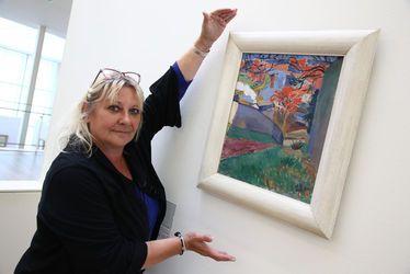 Valérie Maillard profite du dispositif A3 au musée d'art moderne André Malraux