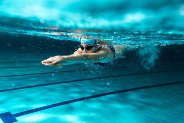 Vignette, natation, piscine
