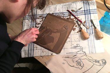 Exposition atelier linogravure