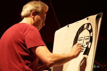Lors d'une rencontre du dessinateur havrais Laurent Corvaisier avec le jeune public