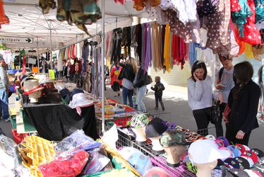 vignette, Braderie, étalagiste, commerce de rue, marché