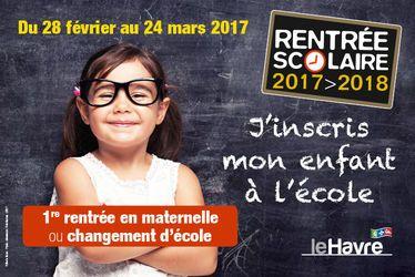 Inscriptions pour la rentrée scolaire 2017 - 2018