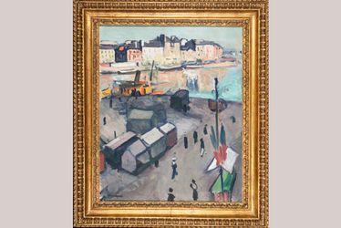 Albert Marquet, Le Havre, le bassin, 1906, huile sur toile, 61,4 x 50,3 cm, Le Havre, Musée d'art moderne André Malraux, achat de la Ville avec l'aide de l'État (Fonds du Patrimoine), la Région Normandie (Fonds régional d'acquisition des musées), etc.