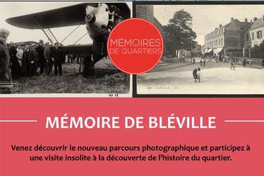 """Découverte du parcours photographique """"Mémoire de Bléville"""""""