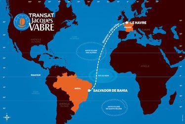 Le parcours de l'édition 2017 de la Transat Jacques Vabre