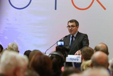 Luc LEMONNIER, maire du Havre, lors des cérémonies de voeux 2018