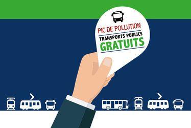Pics de pollution atmosphérique : transports gratuits vendredi 24 janvier 2020