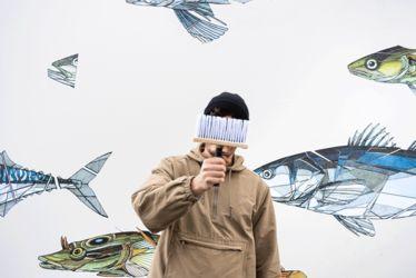 Le street artist havrais Teuthis