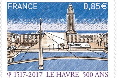 Le Havre complètement timbré