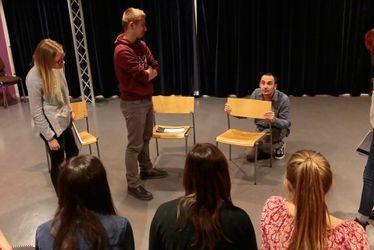 Les Havrais du Festival littéraire Le Goût des Autres 2016 : Ludovic Pacot-Grivel et les élèves du Conservatoire Arthur Honegger