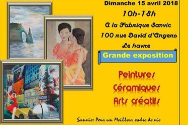 Grande exposition de peintures, céramiques et arts créatifs