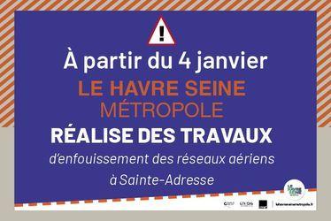 Travaux sur la route d'Octeville à Sainte-Adresse