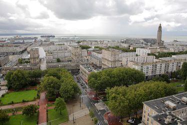 Vue de la ville depuis la tour de l'Hôtel de ville