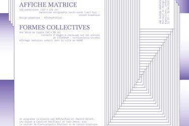 Affiche matrice formes collectives - ExposerPublier - Une Saison Graphique