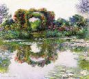 A Giverny, dans le bassin de Claude Monet
