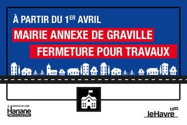 Graville : fermeture de la Mairie et de la Bibliothèque à partir du 1er avril