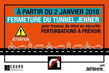 Fermeture du tunnel Jenner : des perturbations à prévoir