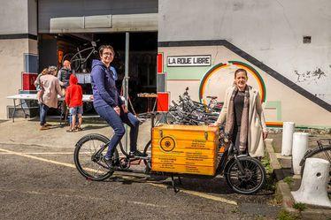 Céline Cazuc, coordinatrice, et Isabelle Bailleul, chargée de mission, association La Roue Libre