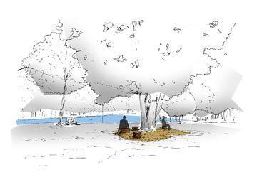 Les nouveaux aménagements du parc de Montgeon, comme ici la zone de silence