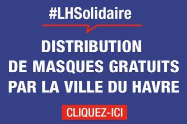 A partir du jeudi 7 mai, la Ville du Havre commence la distribution gratuite d'un masque de protection « grand public » à chacun de ses habitants.