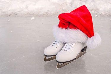 Vignette, patinoire, patinage, patin à glace, Noël