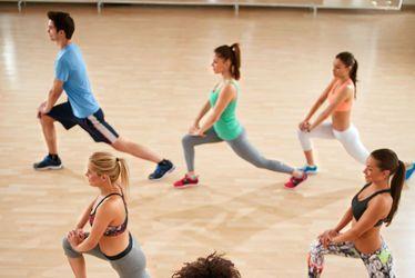 vignette fitness, gymnastique, stretching