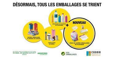 Collecte des déchets – Tous les emballages se trient à partir du 1er septembre 2016