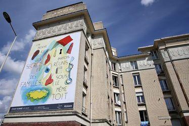 Avec le projet artistique Etant donné un mur, écrivains et graphistes s'affichent sur les façades d'Alcéane
