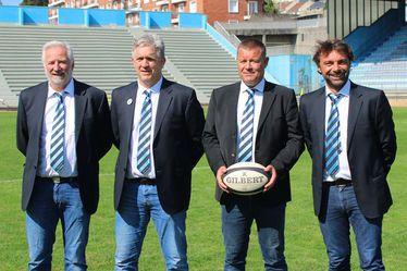 De gauche a droite : Mathias Pesson - Responsable commission sportive, Olivier Doutreleau - Co-Président, Franck Mirebeau - Co-Président, Gabriel Dubernet - Co-Président.
