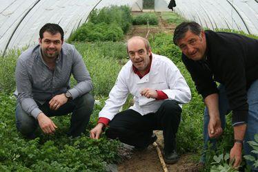 Jean-Luc Tartarin entouré de Sébastien et Christian Argentain