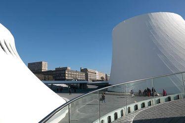 Place basse de l'Espace Oscar Niemeyer, depuis le réaménagement