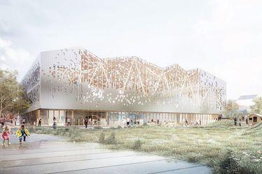 Début des travaux d'aménagement de la place Danton et du futur équipement socio-culturel et sportif