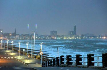 Le tempête Eleanor au Havre, le 2 janvier 2018