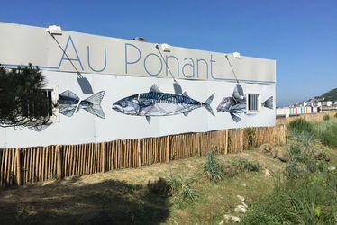 Comme Teuthis sur le restaurant de la plage Au Ponant, 18 autres artistes havrais exposent à la plage pour Un Été au Havre