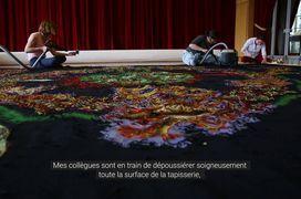 """La tapisserie """"L'Eau et le Feu"""" de Jean Lurçat restaurée"""