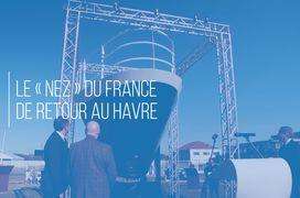 """Le """"nez"""" du France de retour à son port d'attache"""