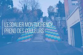Mise en couleurs de l'escalier Montmorency