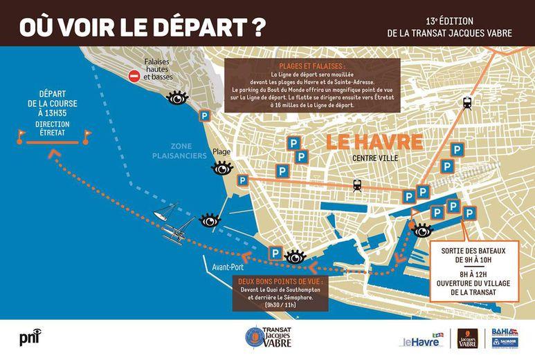 Où se placer pour voir le départ de la Transat Jacques Vabre 2017 ?