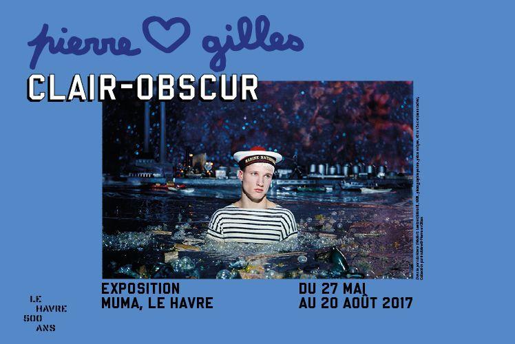 Dans le port du Havre (Frédéric Lefant), 1998, photographie peinte, pièce unique, sans cadre : 101 x 124 cm, Collection particulière